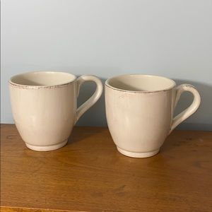 PAIR of Pier 1 imports coffee mugs